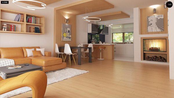 Фото 6 - Z69 dk - Проект одноэтажного классического дома адаптированного для каркасной технологии строительства.