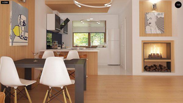 Фото 7 - Z69 dk - Проект одноэтажного классического дома адаптированного для каркасной технологии строительства.