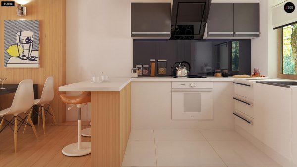 Фото 8 - Z69 dk - Проект одноэтажного классического дома адаптированного для каркасной технологии строительства.