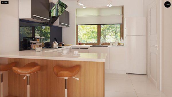 Фото 9 - Z69 dk - Проект одноэтажного классического дома адаптированного для каркасной технологии строительства.