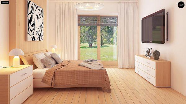 Фото 10 - Z69 dk - Проект одноэтажного классического дома адаптированного для каркасной технологии строительства.