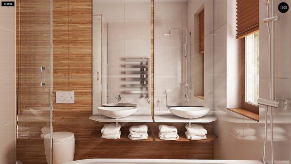 Фото 12 - Z69 dk - Проект одноэтажного классического дома адаптированного для каркасной технологии строительства.