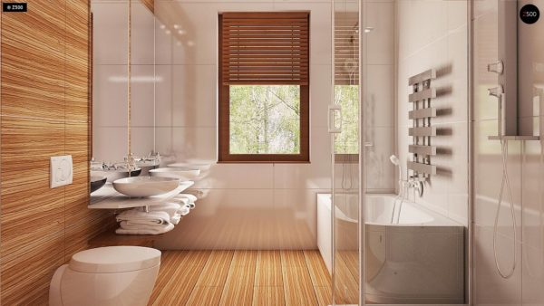 Фото 13 - Z69 dk - Проект одноэтажного классического дома адаптированного для каркасной технологии строительства.