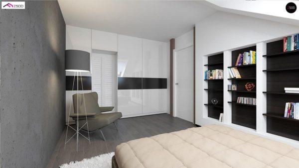 Фото 3 - Z75 - Простой и экономичный дом с мансардой и дополнительной комнатой на первом этаже.