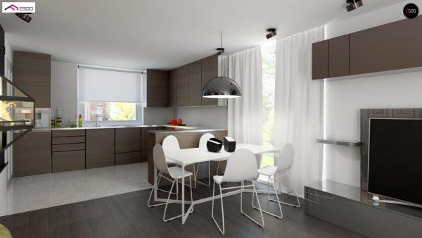 Фото 4 - Z75 - Простой и экономичный дом с мансардой и дополнительной комнатой на первом этаже.