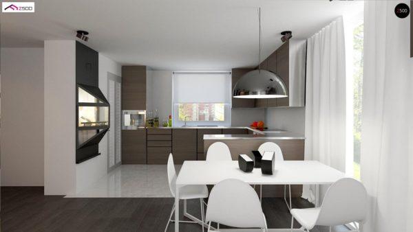 Фото 5 - Z75 - Простой и экономичный дом с мансардой и дополнительной комнатой на первом этаже.