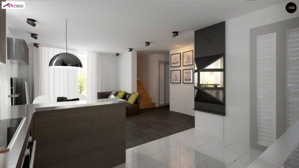 Фото 6 - Z75 - Простой и экономичный дом с мансардой и дополнительной комнатой на первом этаже.