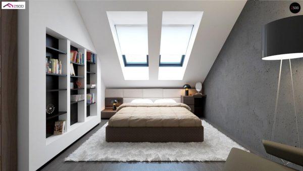 Фото 7 - Z75 - Простой и экономичный дом с мансардой и дополнительной комнатой на первом этаже.