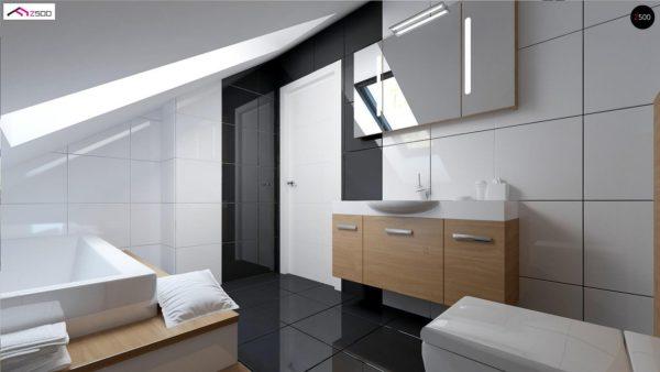 Фото 8 - Z75 - Простой и экономичный дом с мансардой и дополнительной комнатой на первом этаже.