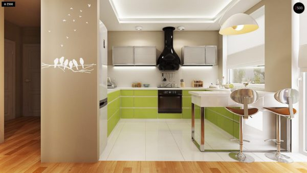 Фото 5 - Z78 - Аккуратный небольшой одноэтажный дом простой конструкции с кухней со стороны сада.