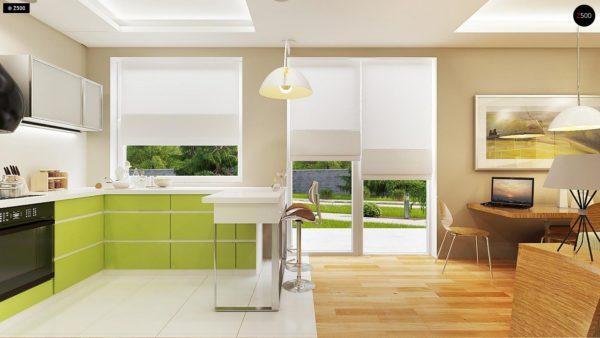 Фото 6 - Z78 - Аккуратный небольшой одноэтажный дом простой конструкции с кухней со стороны сада.