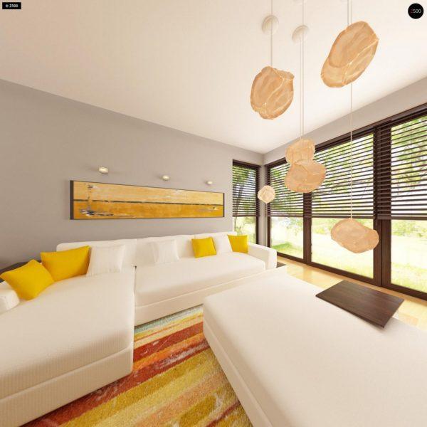 Фото 8 - Z79 - Традиционный дом простой формы с двускатной крышей, с дополнительной комнатой на первом этаже.