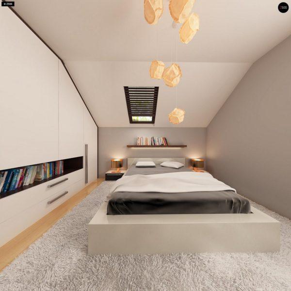 Фото 9 - Z79 - Традиционный дом простой формы с двускатной крышей, с дополнительной комнатой на первом этаже.