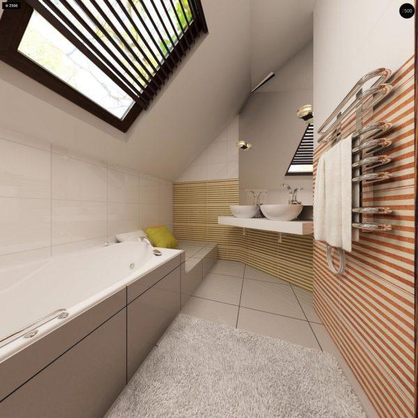 Фото 13 - Z79 - Традиционный дом простой формы с двускатной крышей, с дополнительной комнатой на первом этаже.
