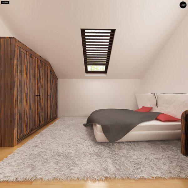 Фото 20 - Z79 - Традиционный дом простой формы с двускатной крышей, с дополнительной комнатой на первом этаже.