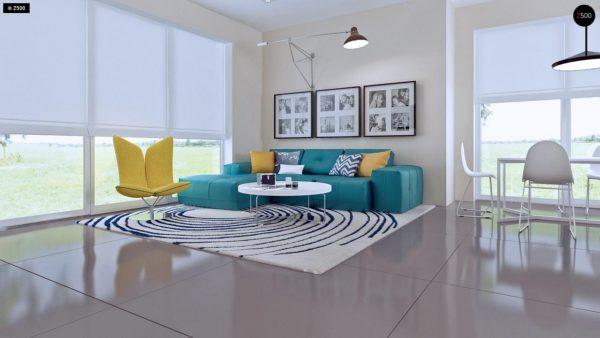Фото 4 - Z92 - Проект практичного дома с большим хозяйственным помещением, с кабинетом на первом этаже.