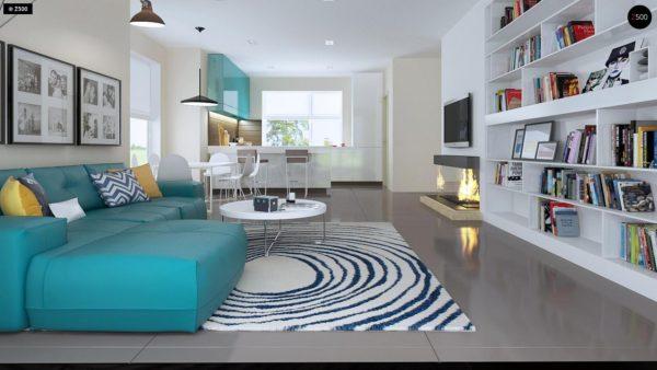 Фото 5 - Z92 - Проект практичного дома с большим хозяйственным помещением, с кабинетом на первом этаже.