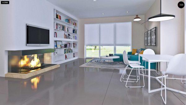 Фото 6 - Z92 - Проект практичного дома с большим хозяйственным помещением, с кабинетом на первом этаже.