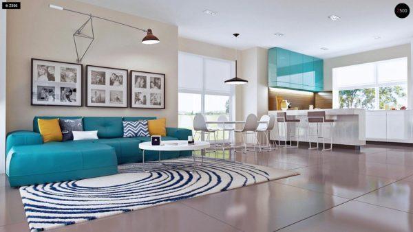 Фото 7 - Z92 - Проект практичного дома с большим хозяйственным помещением, с кабинетом на первом этаже.