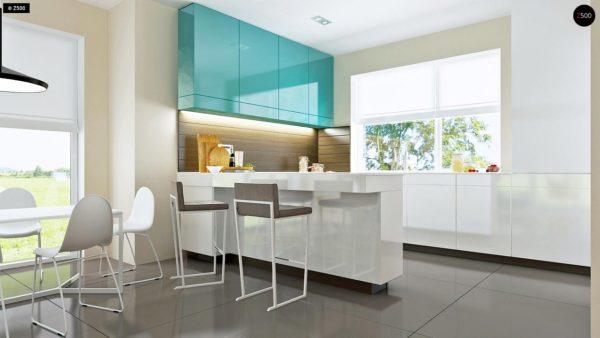 Фото 8 - Z92 - Проект практичного дома с большим хозяйственным помещением, с кабинетом на первом этаже.