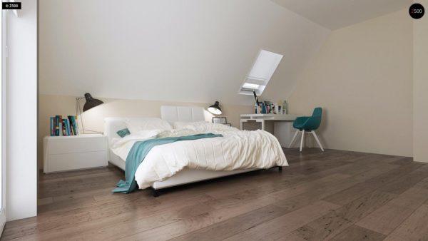 Фото 9 - Z92 - Проект практичного дома с большим хозяйственным помещением, с кабинетом на первом этаже.
