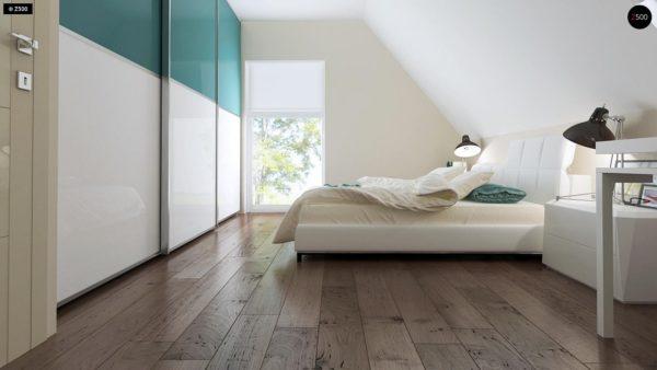 Фото 10 - Z92 - Проект практичного дома с большим хозяйственным помещением, с кабинетом на первом этаже.