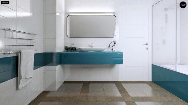 Фото 11 - Z92 - Проект практичного дома с большим хозяйственным помещением, с кабинетом на первом этаже.