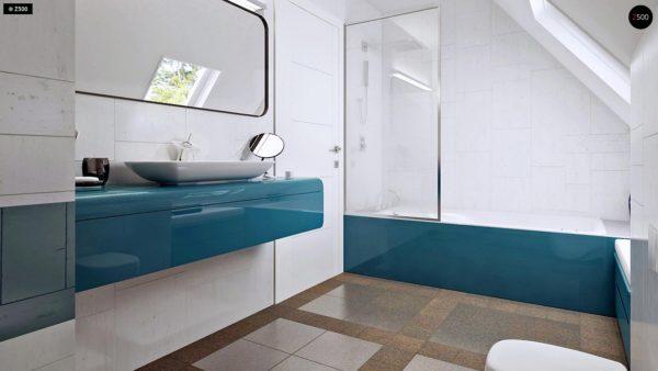 Фото 12 - Z92 - Проект практичного дома с большим хозяйственным помещением, с кабинетом на первом этаже.
