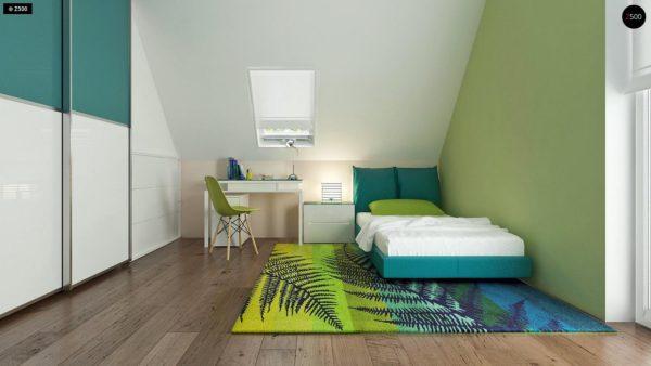 Фото 13 - Z92 - Проект практичного дома с большим хозяйственным помещением, с кабинетом на первом этаже.