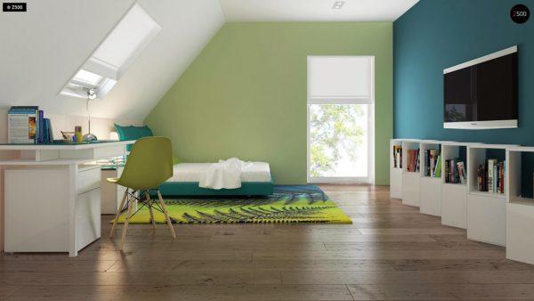 Фото 14 - Z92 - Проект практичного дома с большим хозяйственным помещением, с кабинетом на первом этаже.