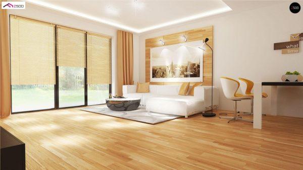 Фото 3 - Z98 - Проект выгодного одноэтажного дома с возможностью адаптации чердачного помещения.
