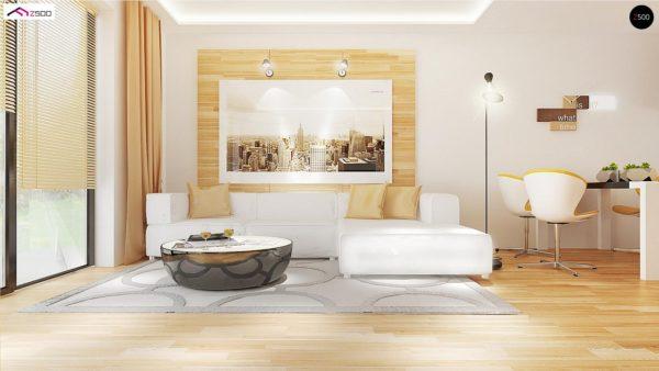 Фото 4 - Z98 - Проект выгодного одноэтажного дома с возможностью адаптации чердачного помещения.