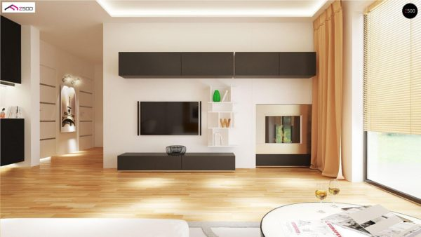 Фото 5 - Z98 - Проект выгодного одноэтажного дома с возможностью адаптации чердачного помещения.