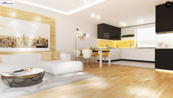 Фото 6 - Z98 - Проект выгодного одноэтажного дома с возможностью адаптации чердачного помещения.