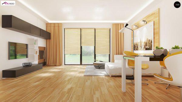 Фото 7 - Z98 - Проект выгодного одноэтажного дома с возможностью адаптации чердачного помещения.