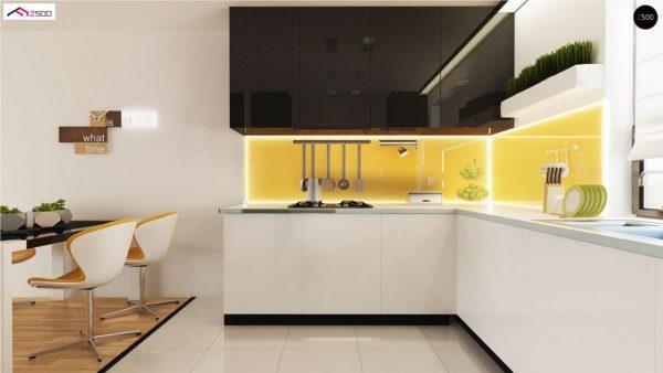 Фото 9 - Z98 - Проект выгодного одноэтажного дома с возможностью адаптации чердачного помещения.