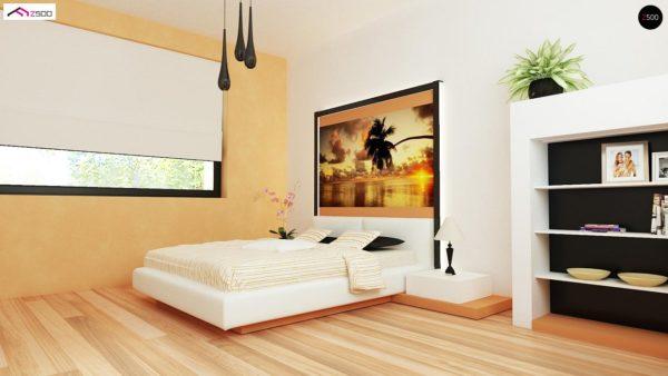Фото 15 - Z98 - Проект выгодного одноэтажного дома с возможностью адаптации чердачного помещения.