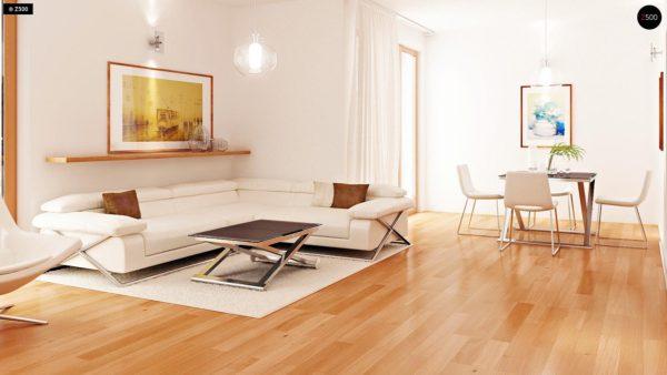 Фото 4 - Zb4 - Проект стильного, функционального и недорогого двухсемейного дома.