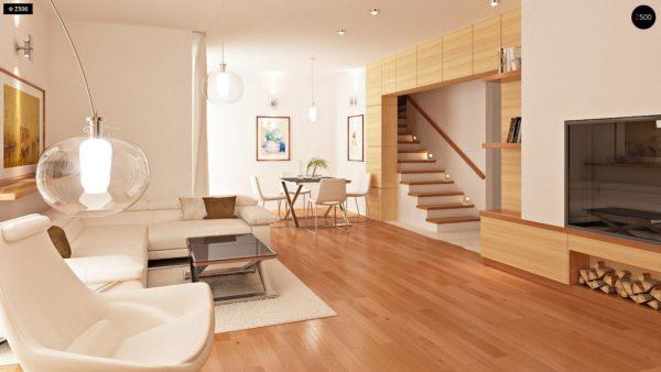 Фото 5 - Zb4 - Проект стильного, функционального и недорогого двухсемейного дома.