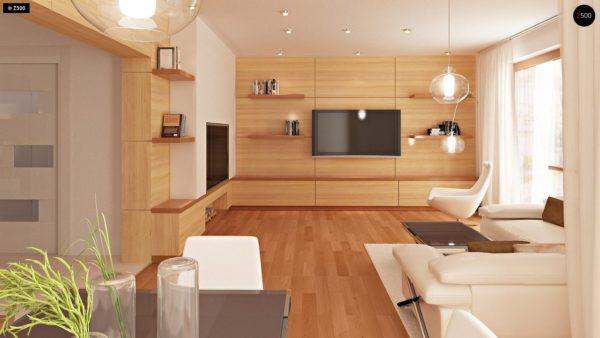 Фото 3 - Zb4 - Проект стильного, функционального и недорогого двухсемейного дома.