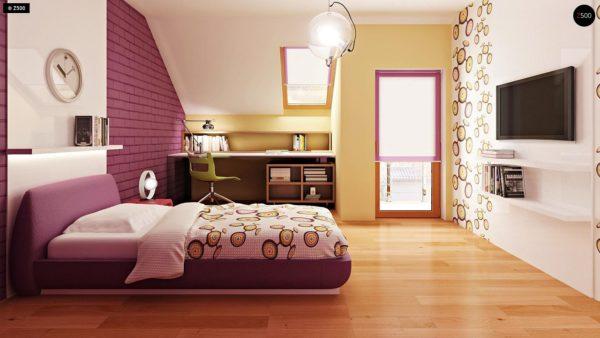 Фото 10 - Zb4 - Проект стильного, функционального и недорогого двухсемейного дома.