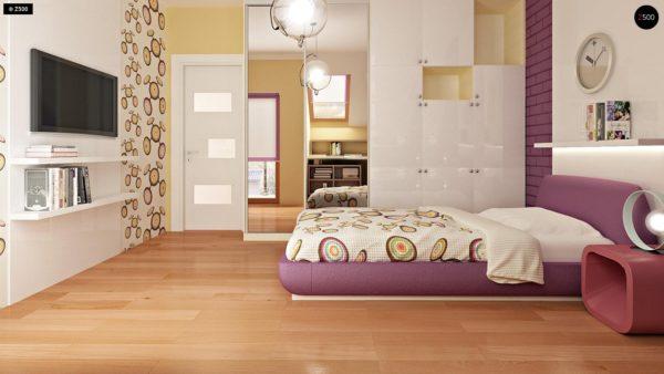Фото 9 - Zb4 - Проект стильного, функционального и недорогого двухсемейного дома.