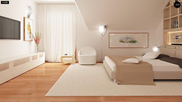 Фото 15 - Zb4 - Проект стильного, функционального и недорогого двухсемейного дома.