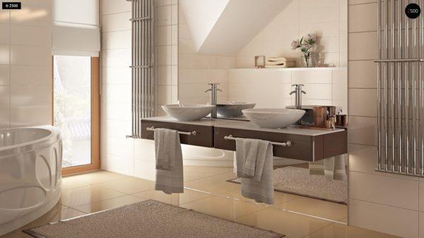 Фото 18 - Zb4 - Проект стильного, функционального и недорогого двухсемейного дома.
