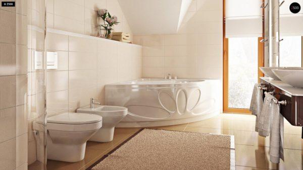 Фото 19 - Zb4 - Проект стильного, функционального и недорогого двухсемейного дома.