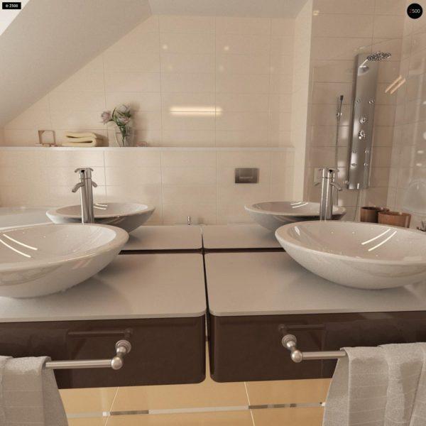Фото 17 - Zb4 - Проект стильного, функционального и недорогого двухсемейного дома.