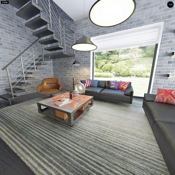 Фото 12 - Zx63 - Современный элегантный дом с гостиной с фронтальной стороны.