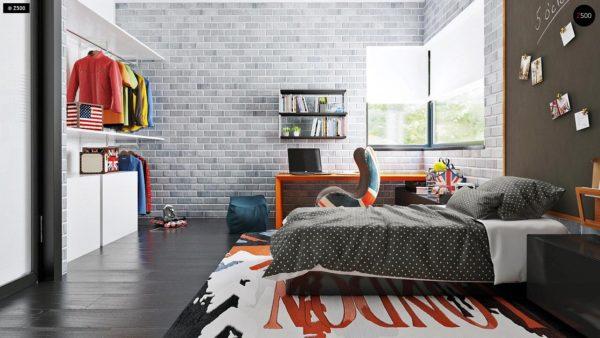 Фото 16 - Zx63 - Современный элегантный дом с гостиной с фронтальной стороны.