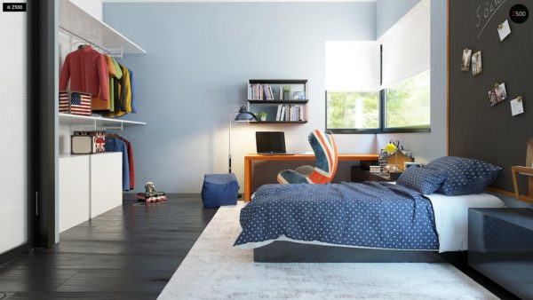 Фото 17 - Zx63 - Современный элегантный дом с гостиной с фронтальной стороны.
