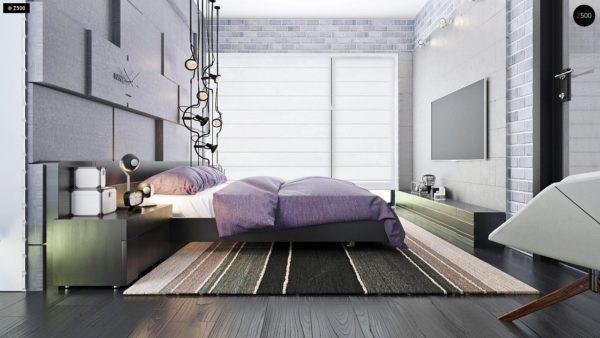 Фото 22 - Zx63 - Современный элегантный дом с гостиной с фронтальной стороны.